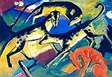 Kunstdruck/Poster: Franz Marc Spielende Hunde - hochwertiger Druck, Bild, Kunstposter, 85x60 cm