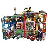 KidKraft- Juguetes de madera Everyday Heroes, para niños, con camión de bomberos,...