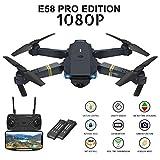 RC2 Corporation Drone con Telecamera, E58 2 Batteria Pieghevole Drone con WiFi...