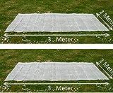 EXCOLO 12 qm 2 x Gitterfolie 2 x 3 Meter transparent weiß Abdeckung Windschutz Sichtschutz Schutz