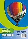 PVP 6117 - Farbmix Kopierpapier DIN A4, 80 g/qm, 10 x 25 Blatt, pastell und intensiv Farben