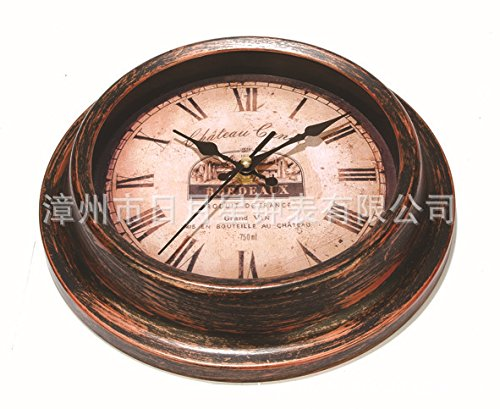 Wall Clock WERLM Personalisiertes Design Home Dekorative Wanduhr Kunst Wanduhr Antik Clock die nostalgische Home Kunststoff ist Eine Familie Restaurant Küchen Büro Schulen Sind Ideal für Jeden Raum (Metall Nostalgisch Personalisierte)