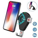 Chargeur de voiture sans fil, Wofalo support voiture chargeur rapide sans fil Qi pour Samsung Galaxy Note 8/S8/S8+/S7/S6Edge +/Note 5, sans fil Qi Chargeur standard pour iPhone 8/8Plus/X