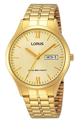 Lorus Reloj Analógico para Hombre de Cuarzo con Correa en Acero Inoxidable RXN04DX9