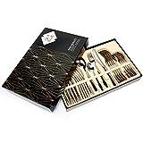Elegant Life Besteck, 24-teilige Besteck Set, aus Edelstahl Hochwertige Spiegelpolierte Besteck-Sets, Mehrzweckgebrauch für Haus, Küche, Restaurant Besteck Sets mit Geschenkbox-Service für 6 Personen - 8