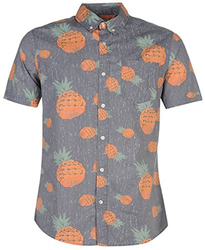 mens-summer-all-over-print-casual-shirt-top-large-blue-pineapples