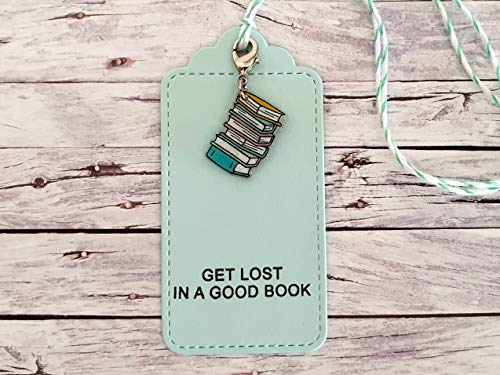 Geschenkanhänger mit Charm Anhänger Bücher, get lost in a good book, handgemacht