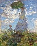 1art1 52139 Claude Monet - Frau Mit Sonnenschirm, Madame Monet Mit Ihrem Sohn, 1875 Kunstdruck 50 x 40 cm