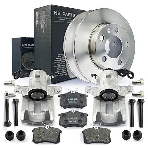 2x Bremssattel + Bremsscheiben + Bremsbeläge hinten NB PARTS GERMANY 10043389