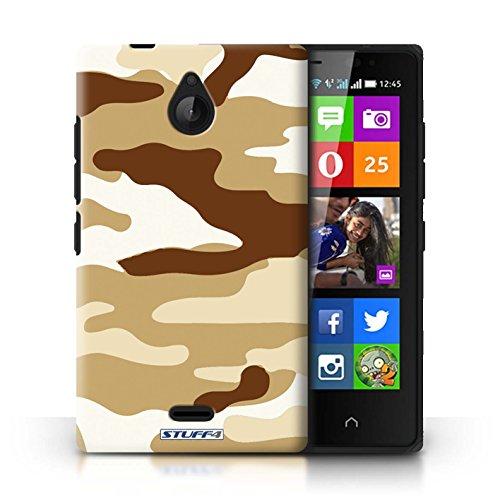 Kobalt® Imprimé Etui / Coque pour Nokia X2 Dual Sim / Bleue 2 conception / Série Armée/Camouflage Marron 2