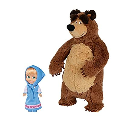Puppe Mascha und der Plüsch Bär Set Masha i Medved Masha and the Bear Misha