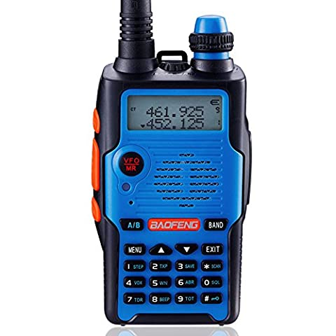 Baofeng UV-5R 5th Generation 136-174/400-520mHZ Two Way Radio Professional FM Transceiver(Blue)