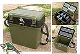 Bison Fishingmad Sitzbox/Zubehörbox - Sitzkiepe mit Fächern für Zubehör