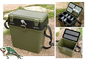 New Fishingmad Tackle Seat Box, with carry strap, seat pad and waterproof phone wallet