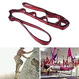 Wokee Yoga Hängematte,130 * 1,6 cm,Belastung Im Freien hängende Bügel,Anti Schwerkraft Yoga Strap Aerial Yoga Gurt Klettern,Nylon,Rot