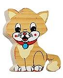 Magnet / Holzmagnet - Katze / Kätzchen - sehr stabil aus lackiertem Holz - für Kinder - Magnet z.B. für Kinderzimmer Kühlschrank - Kühlschrankmagnet / Kinderm..