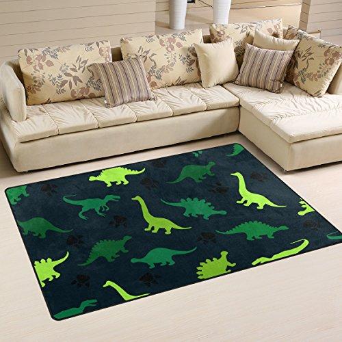 ingbags Super Weich Modern Bunt Dinosaurier auf der Abstrakt, ein Wohnzimmer Teppiche Teppich Schlafzimmer Teppich für Kinder Play massiv Home Decorator Boden Teppich und Teppiche 152,4x 99,1cm