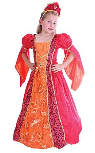 Elisabethanischen Princess Mädchen Kostüm Alter 4-6 (Elisabethanischen Kostümen)
