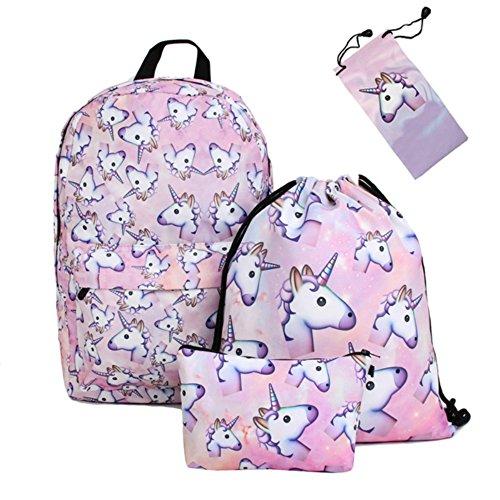 Imagen de smallbox 2017 kawaii moda 3d impresión unicornio patrón niñas escuela  para la escuela de viajes gimnasio pack de 4