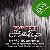 Henna Hair Color - Organic Henna Powder Black HennaHair Colorant For Men & Women Henna Hair Dye ( 2 packet)