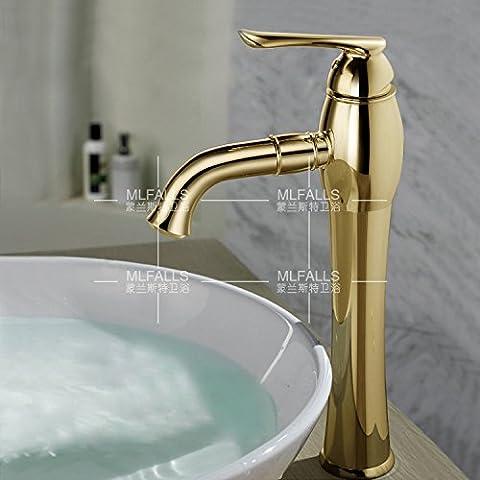La mode moderne salle de bain évier robinet et cuivre