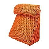 ZWL Kopf Kissen Dreieck Breathable Sofa Kissen, Schlafzimmer Nachttisch Taille Wache Kissen Taille Pad Büro Taille Kissen Rückenlehne Schwangere Kissen Bett Pad (Farbe : #7, größe : 45 * 22 * 50CM)