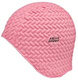 Aqua Speed BOMBASTIC TIC TAC Badekappe (Schwimmhaube Badehaube Latex Gummi), Farbe:Rosa