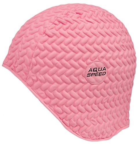 aquaspeedr-bombastic-tic-tac-gorro-de-bano-natacion-caucho-de-latex-comodo-color03-color-rosa