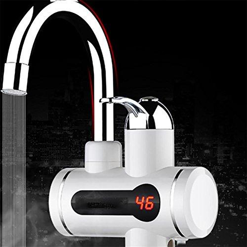 Elektrischer Warmwasser-Heizungs-Hahn-KüChe-Heizung-KüChe-Heizungs-Hahn-Wasser-Hahn Mit LED-Digital-Anzeige , 39CM-7W
