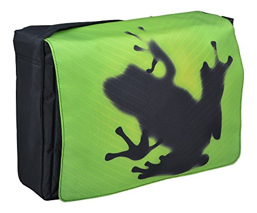 MySleeveDesign Messenger Bag Laptoptasche Notebooktasche mit Tragegurt für 13,3 Zoll / 14 Zoll / 15,6 Zoll / 17,3 Zoll - VERSCH. DESIGNS - Frog [17]