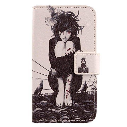 Lankashi PU Flip Leder Tasche Hülle Case Cover Schutz Handy Etui Skin Für TP-Link Neffos C5S 5