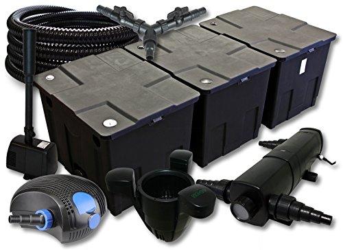 sunsun-filtro-set-90000l-stagno-con-36-w-chiarificatore-stagno-100-w-pompa-eco-25-m-tubo-skimmer-fon