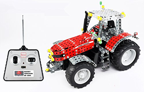 RC Auto kaufen Traktor Bild 6: Tronico 10084 - Metallbaukasten Traktor Massey Ferguson MF-8690 mit Fernsteuerung, Profi Serie, Maßstab 1:16, 726-teilig, rot*