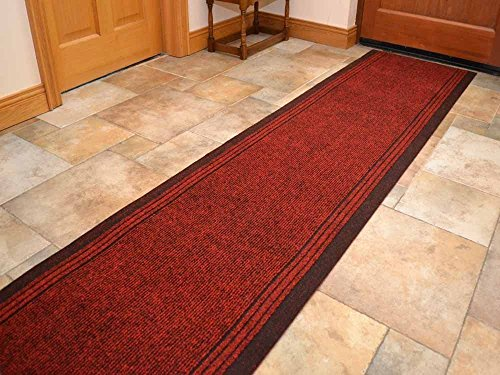 WDC ONLINE eXtreme Inca Red - Long Hall & Stair Carpet Runner - 66cm wide choose your own size in 1ft(foot) lengths