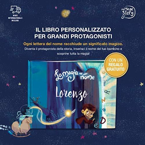 Cofanetto regalo - La magia del mio nome - Libro personalizzato per bambini - Include personaggi ritagliabili!