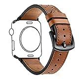 Uhrenarmbänder KZKR LederArmband Uhrarmband Braun 38mm/42mm Uhren Band für iWatch 1 2 3...