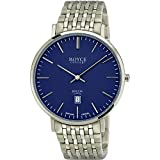 Boccia Herren Analog Quarz Uhr mit Titan Armband 3605-01