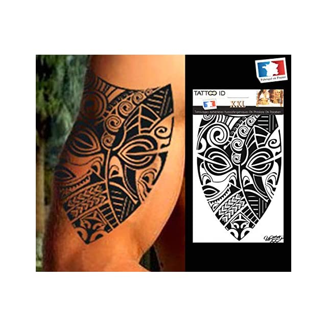 Tatouage Ephemere Temporaire Homme Polynesien Tribal Maori Tattoo Id