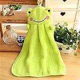 Cute Cartoon Hängende Baby Weich Plüsch Badetücher Handtuch Wischen Kinder Frosch