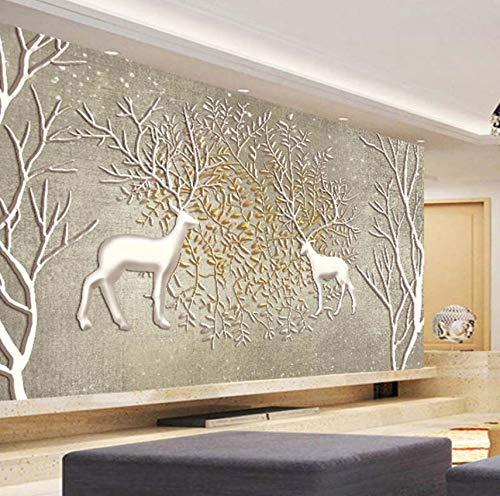 3D Wandbild Wand Papier Große Wandmalerei Wohnzimmer Schlafzimmer Sofa Tv Hintergrund Fototapete Elch, 430X300 Cm (169,29X118,11 In) (Elch-mount)