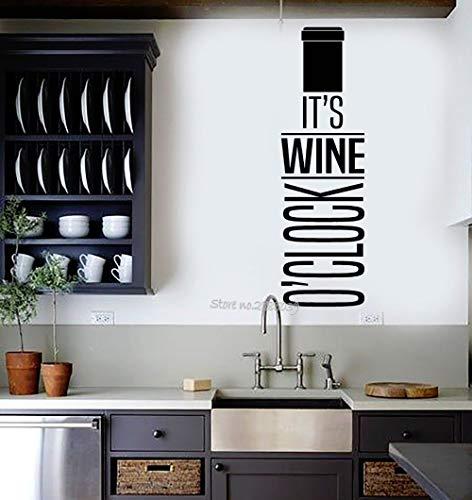 hllhpc Neuheiten Vinyl Wandtattoo Wein Zitat Flasche Bar Restaurant Decor Aufkleber Kunst Küche Wand Dekorative Abziehbilder Mode 30 * 98 cm