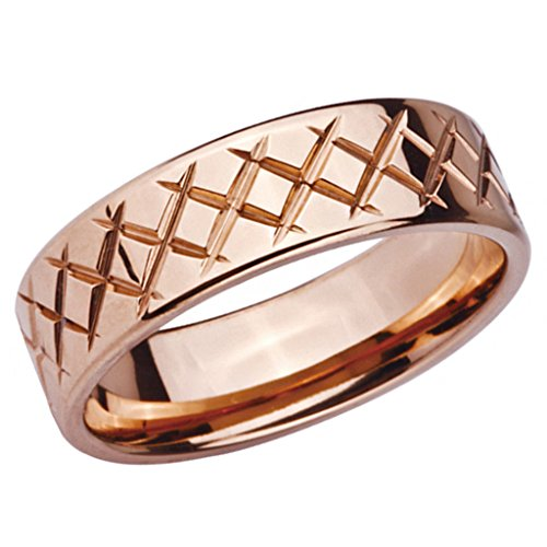 Peora Stainless Steel Rose Criss Cross Ring for Men  available at amazon for Rs.420