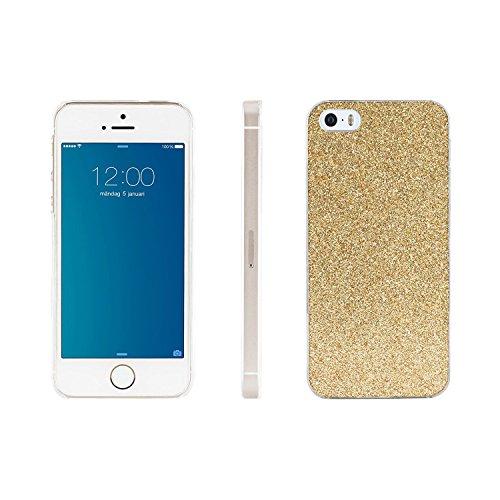 iDeal Of Sweden IDHCP5SG05 Hartschale Luxuriöse für Apple iPhone 5/5S Champagner Glitzer