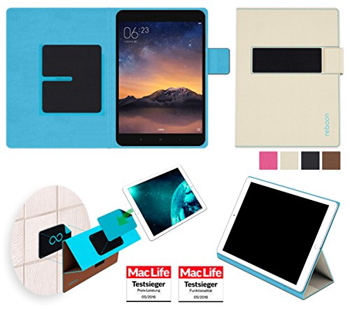 reboon Xiaomi Mi Pad 2 Hülle Tasche Cover Case Bumper | Beige | Testsieger
