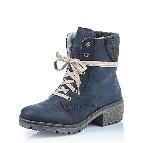 Rieker Damen L5951 Stiefel Blau