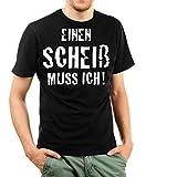 Shirtinator Lustiges Sprüche T-Shirt für Herren Männer   Einen Scheiß muss Ich   Original Black XXL