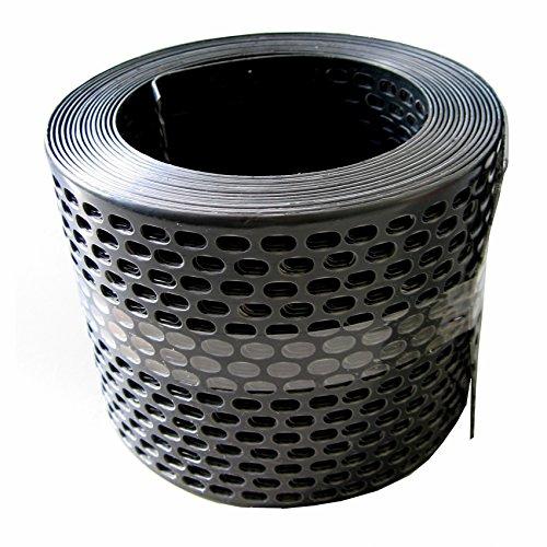 Traufgitter 100 mm schwarz/Rolle a 5 lfm