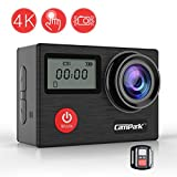 Action Cam, Campark X20 Action Kamera 4K 20MP Wasserdicht Helmkamera SONY Sensor WIFI Sports Cam Dual LCD Touchscreen , mit Fernbedienung, EIS und kostenlose Accessoir