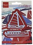 Marianne Design MDLR0199 2-teilige Klassische Boote, Creatables, Metall, blau, 16 x 11.6 x 0.2 cm