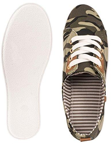 Elara Basic Sneakers   Sportlich Bequeme Turnschuhe   Low Schnürer  chunkyrayan Grün London